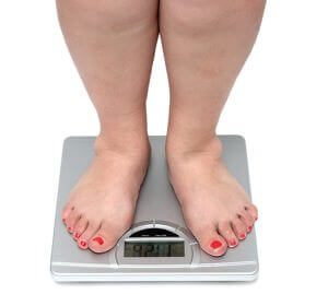 fat feet on your bathroom scale, more weight loss
