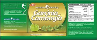 Pure Garcinia Cambogia Extract Ingredients Label Garcinia