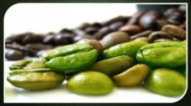 green coffees and brown espresso beans