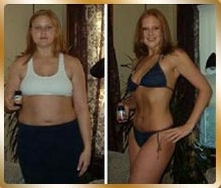 Female's before and after photo from using pure garcinia camboiga to lose surplus weight